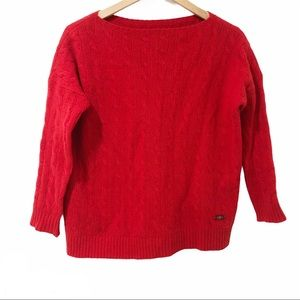 Polo Vintage red merino wool cashmere sweater